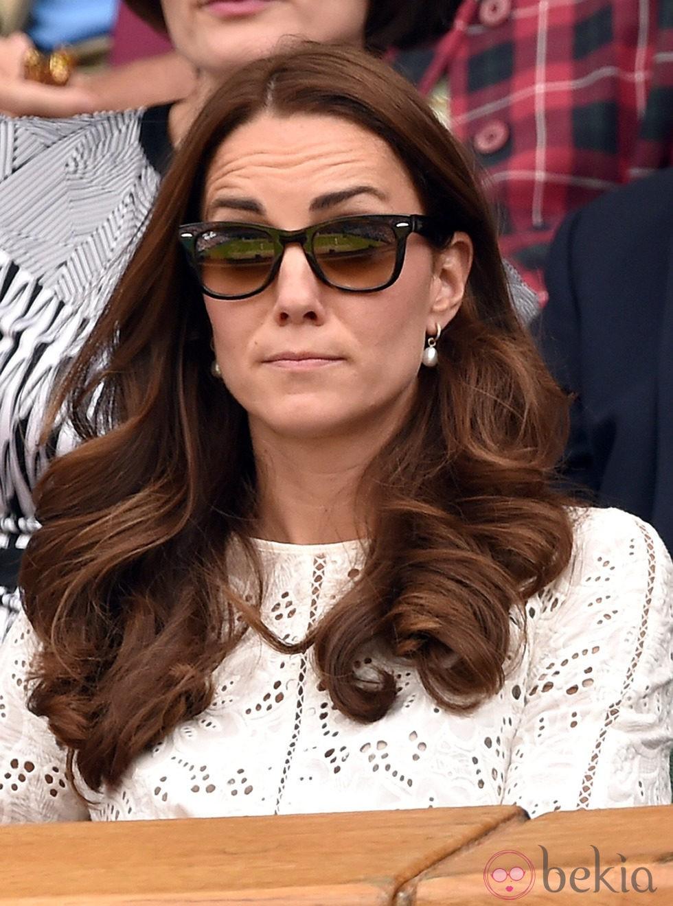 Kate Middleton pone cara de contrariedad en el partido de Andy Murray en Wimbledon 2014