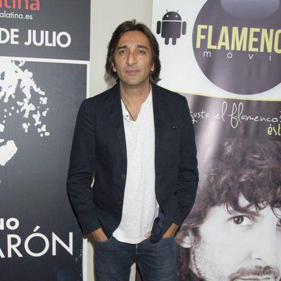 Antonio Carmona en el estreno de 'Eterno Camarón' en Madrid