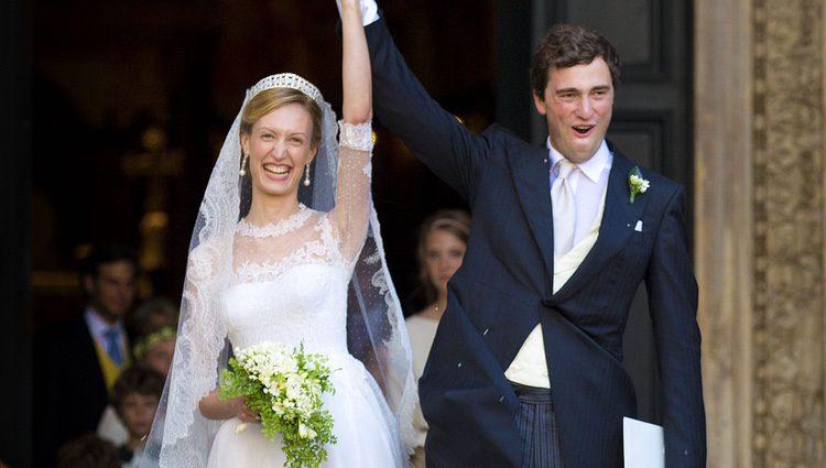 Lili Rosboch y el Príncipe Amadeo de Bélgica en su boda en Roma