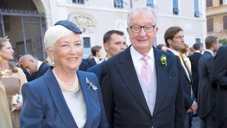 Paola y Alberto de Bélgica en la boda del Príncipe Amadeo y Lili Rosboch