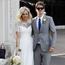 Jesse Wood y Fearne Cotton recién casados