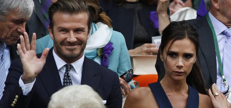 David y Victoria Beckham en la final masculina de Wimbledon 2014