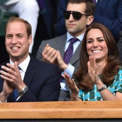 Guillermo de Inglaterra y Kate Middleton en la final masculina de Wimbledon 2014