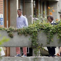 La Reina Sofía con la Infanta Cristina, Iñaki Urdangarín y Juan Valentín en Ginebra