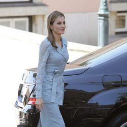 Doña Letizia en su primera visita como Reina a Portugal