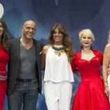 Paz Padilla, Kiko Matamoros, Raquel Bollo, Karmele Marchante y Rosa Benito en el V Aniversario de 'Sálvame'