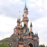 Edurne y David De Gea, muy tiernos delante del castillo de Disney