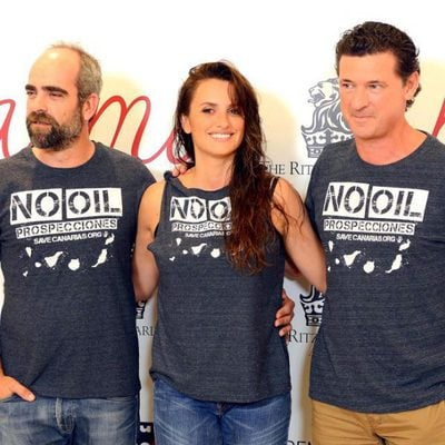 Luis Tosar, Penélope Cruz y Julio Medem en la presentación de la película 'Ma Ma'