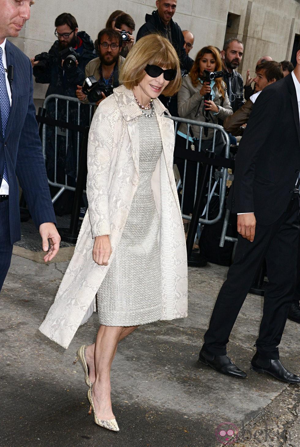 Anna Wintour en el desfile de Chanel de la Semana de la Alta Costura de París otoño/invierno 2014