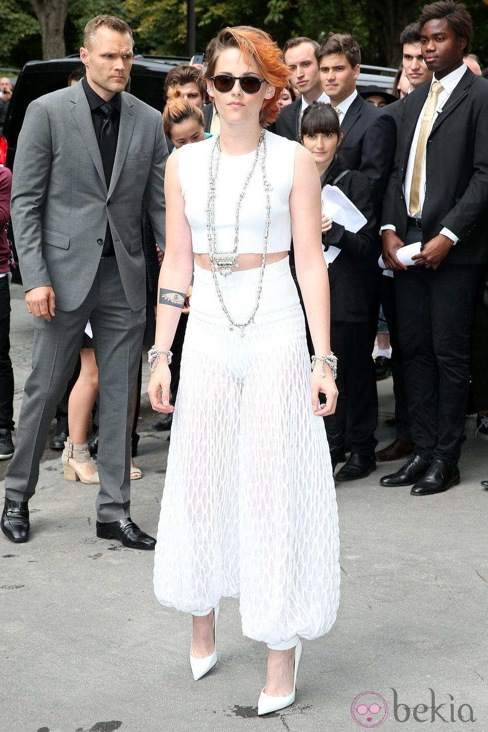 Kristen Stewart en el desfile de Chanel de la Semana de la Alta Costura de París otoño/invierno 2014