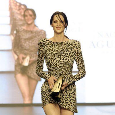 Aída Artiles en el desfile 'La moda en la calle'