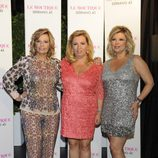 Carmen Borrego en su despedida de soltera con Terelu Campos y María Teresa Campos