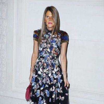 Anna Dello Russo en el desfile de Valentino de la Semana de la Alta Costura de París otoño/invierno 2014