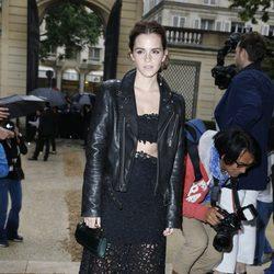 Emma Watson en el desfile de Valentino de la Semana de la Alta Costura de París otoño/invierno 2014