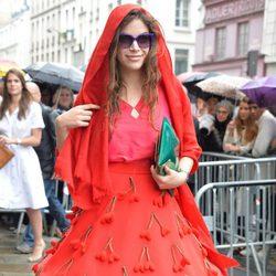 Cósima Ramírez en el desfile de Jean Paul Gaultier de la Semana de la Alta Costura de París otoño/invierno 2014