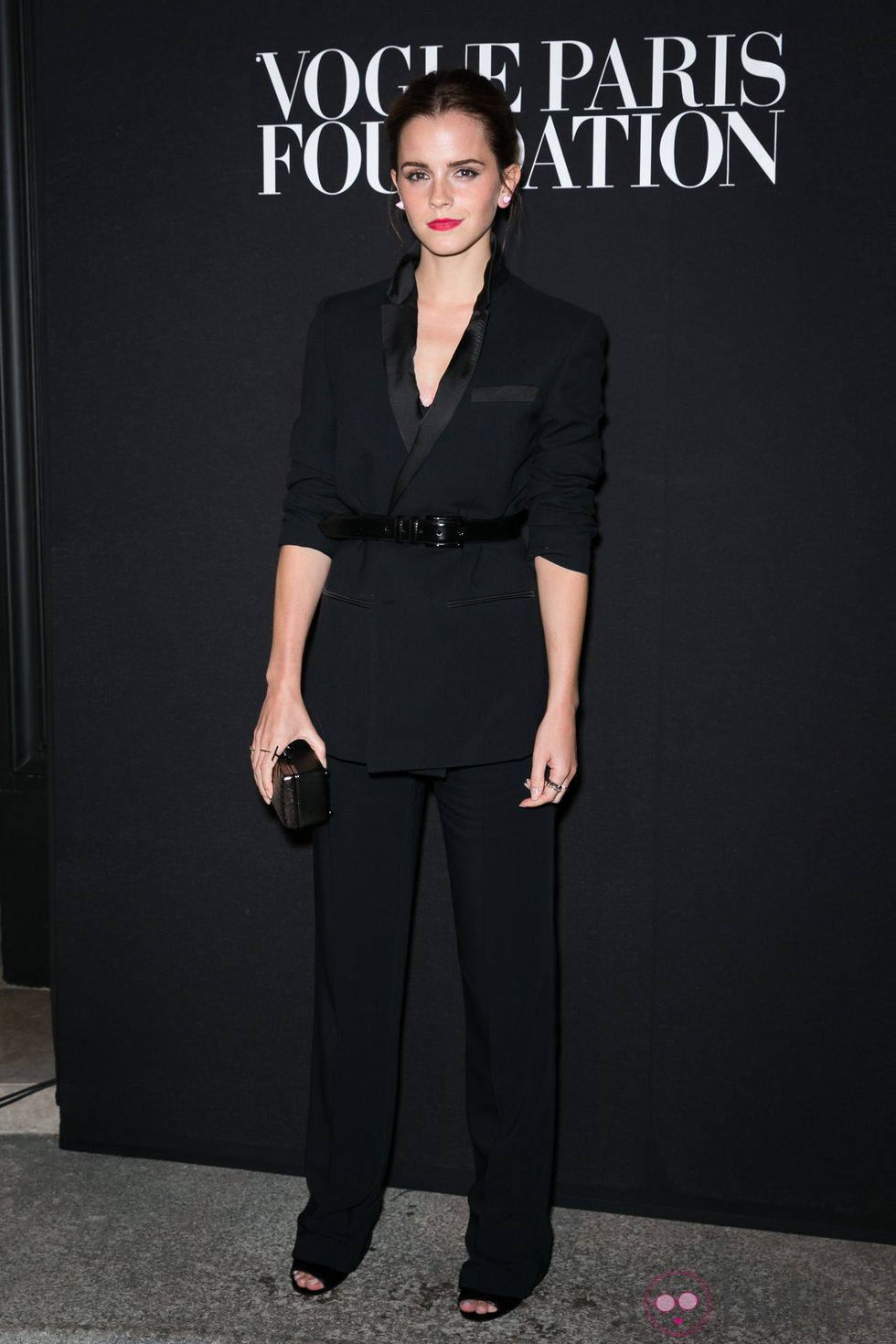 Emma Watson en la fiesta Vogue de la Semana de la Alta Costura de París otoño 2014