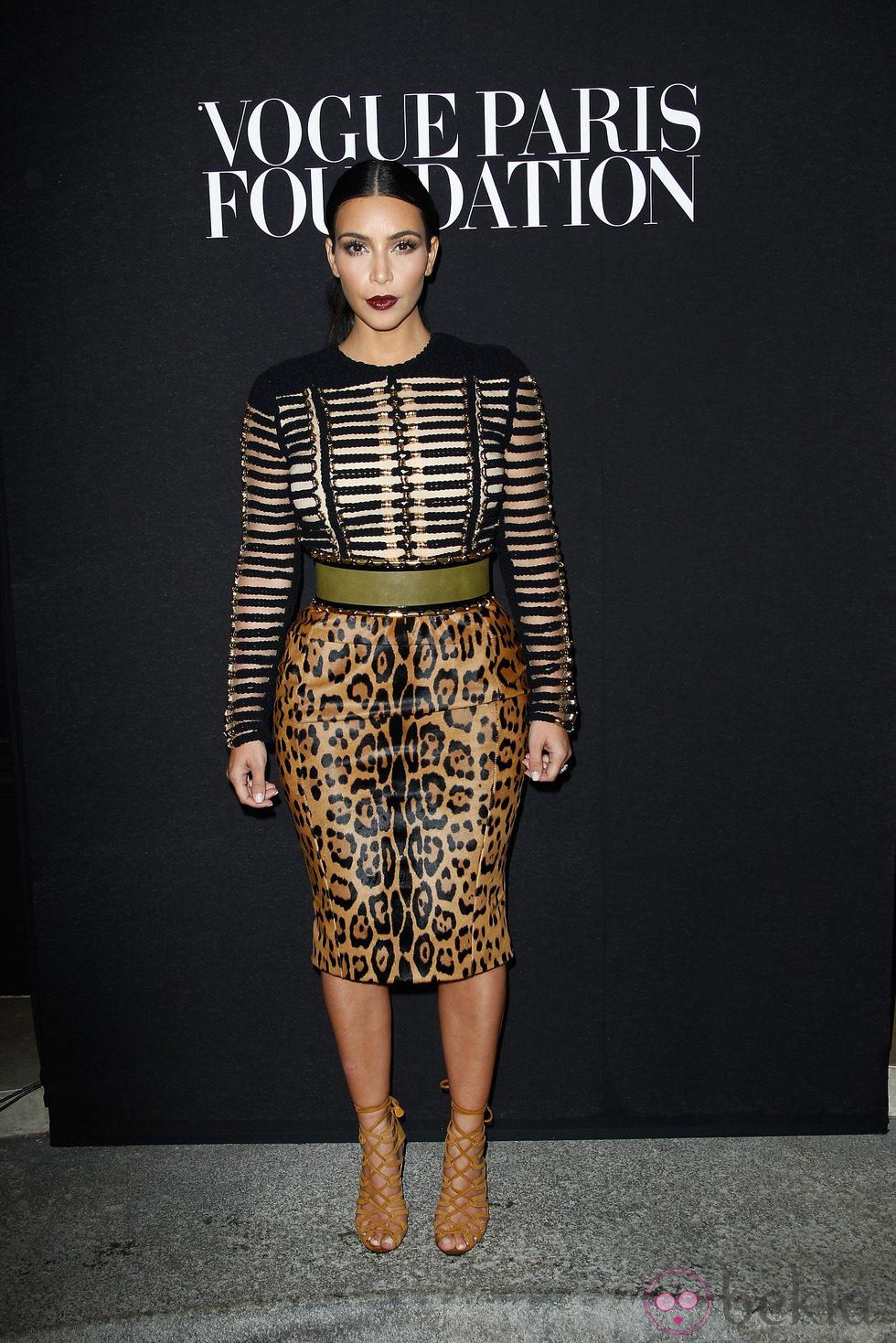 Kim Kardashian en la fiesta Vogue de la Semana de la Alta Costura de París otoño 2014