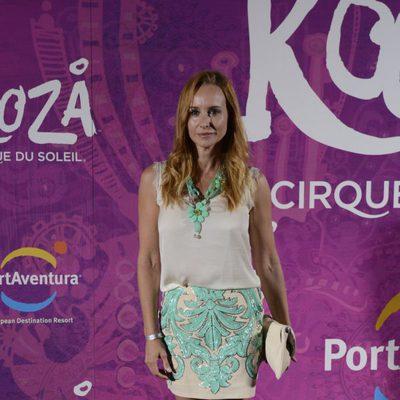 Mar Regueras en el estreno del espectáculo del Circo del Sol 'Kooza' en Port Aventura