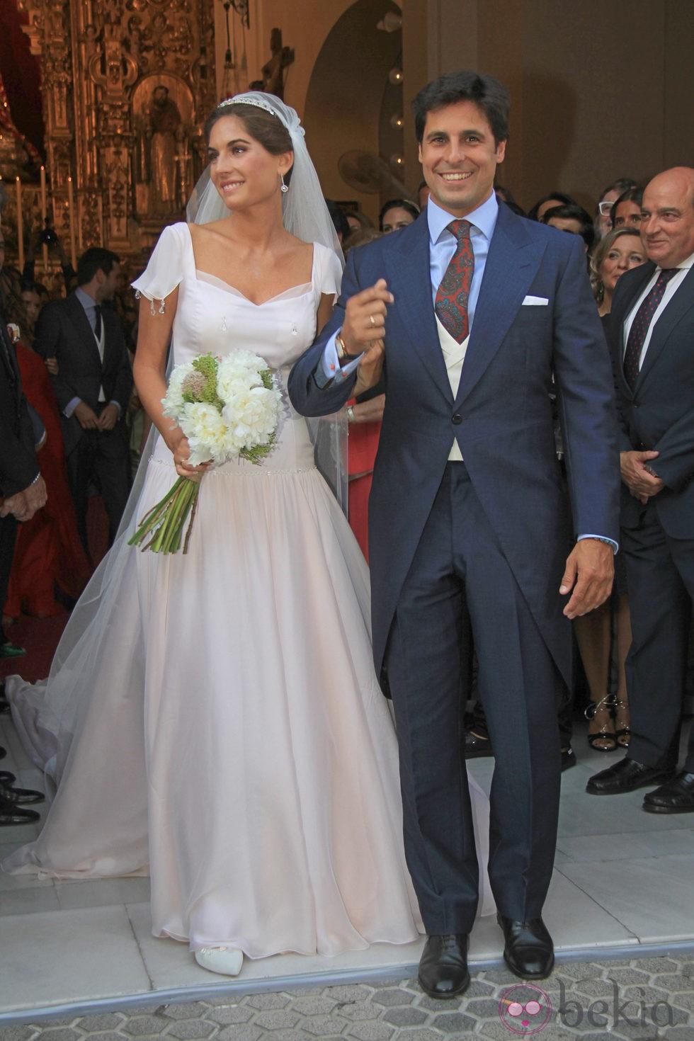 Fran Rivera y Lourdes Montes en su boda religiosa en Sevilla