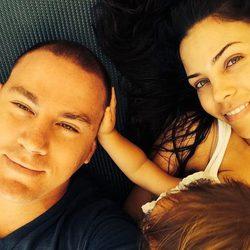 Channing Tatum y Jenna Dewan junto a su hija Everly