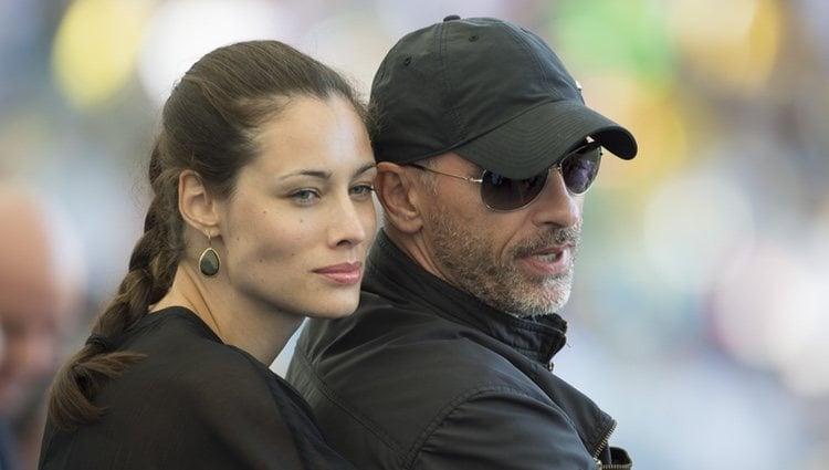 Marica Pellegrinelli y Eros Ramazzotti en la final del Mundial 2014