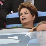 Dilma Rousseff en la final del Mundial 2014