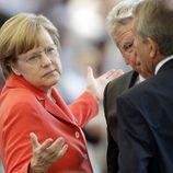 Angela Merkel en la final del Mundial 2014