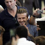 David Beckham fotografía a Pelé en la final del Mundial 2014