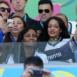 Rihanna en la final del Mundial 2014