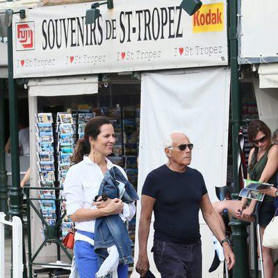 Giorgio Armani y su sobrina Roberta Armani en Saint Tropez