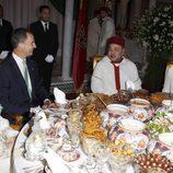 La Princesa Lalla Salma, el Rey Felipe VI, el Rey Mohamed VI y la Reina Letizia en la cena de gala organizada en Marruecos