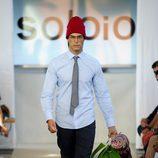 Miguel Herrera desfilando para SOLOiO en MFSHOW MEN primavera/verano 2015