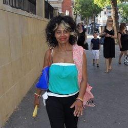 Regina Do Santos en el funeral de Carmen Hornillos