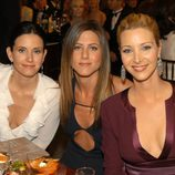 Courtenet Cox, Jennifer Aniston y Lisa Kudrow de cena