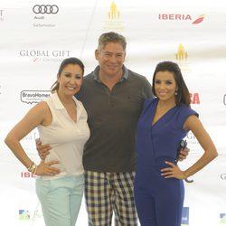 María Bravo, Boris Izaguirre y Eva Longoria en el torneo de golf en Marbella de la Global Gift 2014