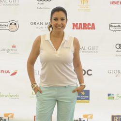 María Bravo en el torneo de golf en Marbella de la Global Gift 2014