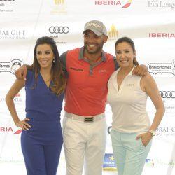 Eva Longoria, Amaury Nolasco y María Bravo en el torneo de golf en Marbella de la Global Gift 2014