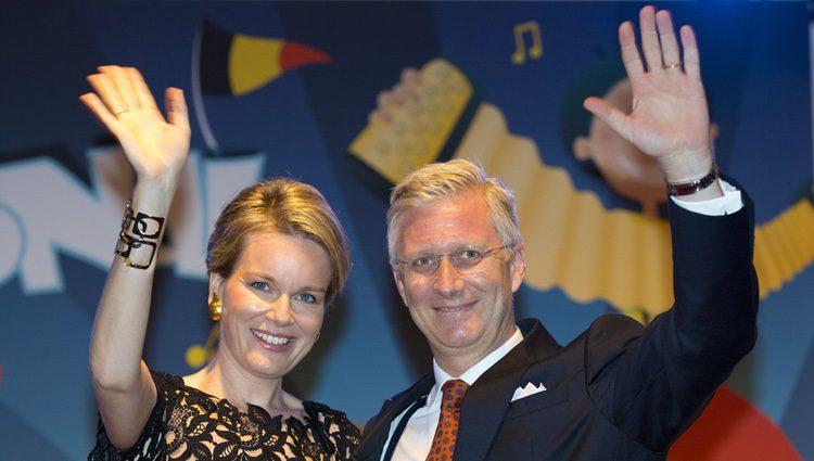 Felipe y Matilde de Bélgica en un concierto con motivo del Día Nacional de Bélgica 2014