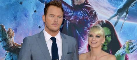 Chris Pratt y Anna Faris en el estreno de 'Guardianes de la Galaxia' en Los Angeles