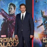 Benicio del Toro posando en el estreno de 'Guardianes de la Galaxia' en Los Angeles