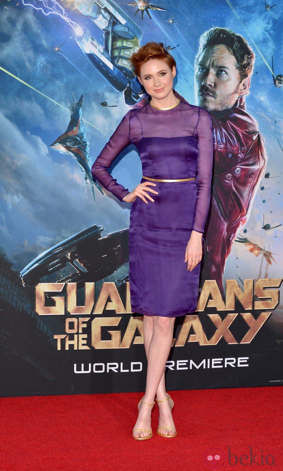 Karen Gillan en el estreno de 'Guardianes de la Galaxia' en Los Angeles