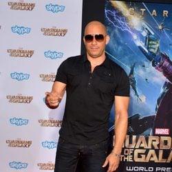 Vin Diesel en el estreno de 'Guardianes de la Galaxia' en Los Angeles