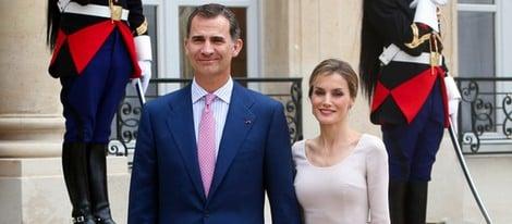 Los Reyes Felipe y Letizia en la visita de presentación a Francia
