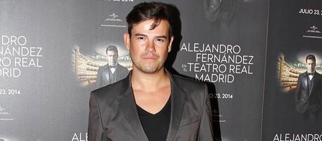 Raúl en el concierto de Alejandro Fernández en Madrid