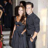 David Bustamante y Paula Echevarría en el concierto de Alejandro Fernández en Madrid