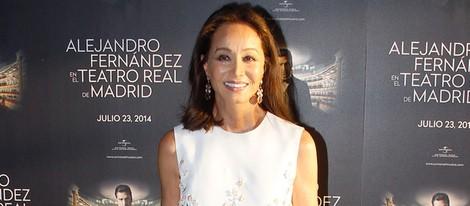 Isabel Preysler en el concierto de Alejandro Fernández en Madrid