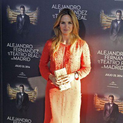 Genoveva Casanova en el concierto de Alejandro Fernández en Madrid
