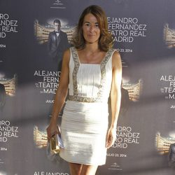 Mónica Martín Luque en el concierto de Alejandro Fernández en Madrid