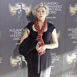 Kiti Mánver en el concierto de Alejandro Fernández en Madrid