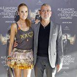 Sandra Ibarra y Juan Ramón Lucas en el concierto de Alejandro Fernández en Madrid